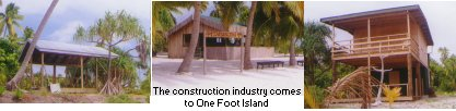Buildings come to One Foot Island